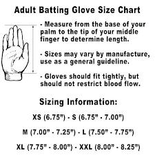 Youth Baseball Batting Glove Size Chart Images Gloves And