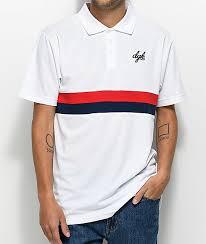 dgk fulton red white blue polo t shirt