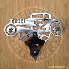 metal art wall mounted ford vintage bottle opener wood and signs product rod