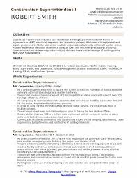 Construction Superintendent Resume Samples Qwikresume