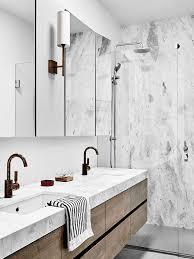 marble bathroom sink. Bathroom, Marble Shower, Double Sink   Hampton Penthouse. Interior Design By Huntly, Photo Brooke Holm Bathroom B