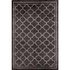 trellis contemporary modern design dark gray 5 ft x 7 ft indoor area rug