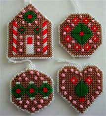 Free Plastic Canvas Christmas Patterns Awesome Gingerbread Cookie Ornaments