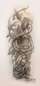 Art тату эскиз розы Chillout Tattoo Workshop