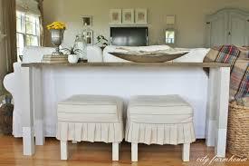 diy dipped sofa table using reclaimed wood