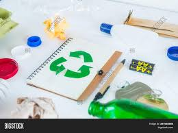 Led Lights Hazardous Waste Recycle Paper Notebook Image Photo Free Trial Bigstock