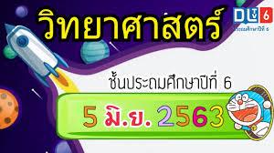 DLTV วิทยาศาสตร์ ป.6 วันที่ 5 มิ.ย.2563 | ระบบย่อยอาหาร (2) | เรียนออนไลน์  - YouTube
