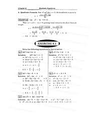 problems on quadratic equations exercise 4 10 1 2