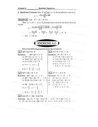 quadratic equations exercise 4 3 solutions tessshlo
