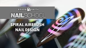 Airbrush Designs Spiral Airbrush Nail Design
