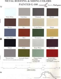 Metal Roof Paint Colors Metal Paint Color Samples At