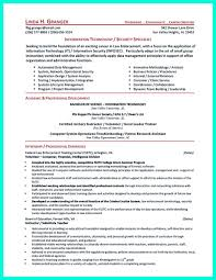 It Security Resume Template Best of Security Resume Skills Examples Information Officer Sample Guard