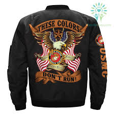 These Colors Dont Run Marines Over Print Jacket