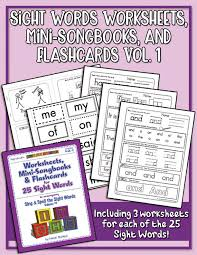 A collection of english esl worksheets for home learning, online practice, distance learning and english classes to teach about phonics, phonics. Sight Words 1 Worksheets Heidisongs Heidi Songs