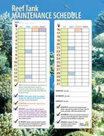 Fish Tank Maintenance Chart Use Our Printable Reef Tank Maintenance Schedule To Stay On