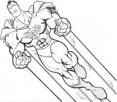Super Strong Superman Coloring Pages Superman