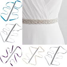 Women's <b>Crystal Rhinestone Dress Bridal Belt</b> Luxury <b>Sash Bride</b> ...