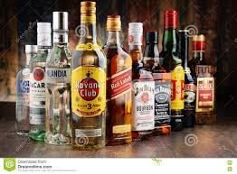 Photo Assorted Stock Hard Illustrative Beverage Liquor 81415688 Image Bottles - Editorial Brands Of