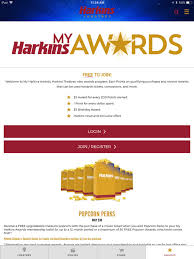 harkins s awards more on the app