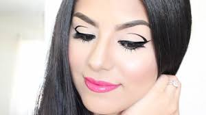 graphic winged liner viva glam miley cyrus lipstick edgy valentine s day makeup tutorial you