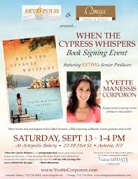 book signing flyer when the cypress whispers book signing event yvette corporon
