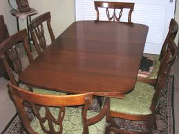 antique gany table and 6 chairs by rway furniture co 1940 s 1950