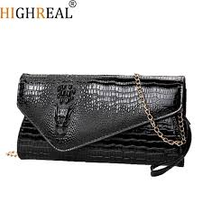 highreal women leather clutch purse party bags high quality crocodile gold elope clutch bag female long wallet phone bag case pink handbags red handbags