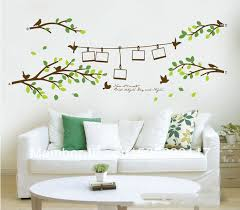 wall art ideas for living room green leaves wall stickers popular living room sticker decals home decor tree wallpaper photo frame art