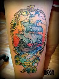 коллекция тату корабль в стиле олд скул пользователя