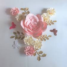 Paper Flower Video 2019 Craft Supplies Artificial Flowers Paper Flower Half Made Leaves Butterflies Wedding Event Backdrops Baby Nursery Video Diy From