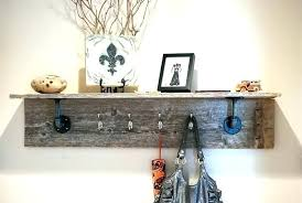 How To Build A Coat Rack Shelf Fascinating Shelf Coat Rack 32 Shelf 32 Hook Entryway Wall Mounted Coat Rack Shelf