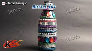 Water Bottles To Decorate HOW TO Decorate Glass Bottle Bottle Art JK Arts 60 YouTube 29
