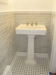 powder room pedestal sink traditional bathroom
