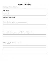 Resume Preparation Classy 28 Awesome Resume Preparation Worksheet Lancerules Worksheet