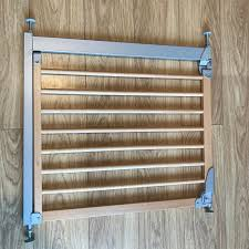 Babydan Designer Wood And Metal Gate Beech Babydan Designer Pressure Fit Safety Door Gate Baby