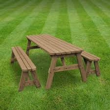 oakham rounded picnic table and bench set 8ft