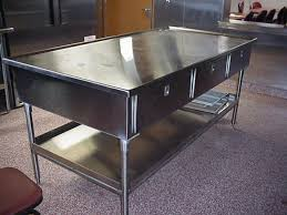 Stainless Steel Work Table With Backsplash Enchanting Stainless Steel Kitchen Prep Table 48 Kitchen Design Ideas In 48