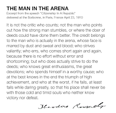 Man In The Arena The Alee Blog