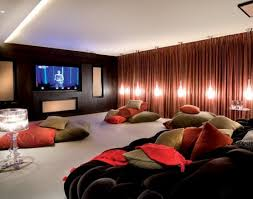 movie room lighting. Interior Lighting Design For Luxurious Modern Residence : In Movie Room With