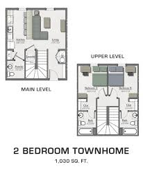 Floor Plans For MSU Students Student Housing In East Lansing - Two bedroom townhome
