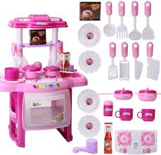 Toy Kitchen With Lights And Sound Big Kitchen Cook Set Toy Kids Play Pretend Kitchen Set With