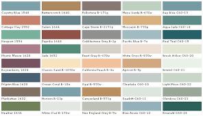 California Paint Color Chart Behr Paints Behr Colors Behr Paint Colors Behr