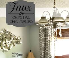 do want to pay the of a new crystal chandelier what about a faux