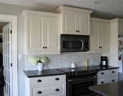 White Cabinet Kitchen Design My Kitchen White Cabinets Dark Counters Dark Drawer Pulls A