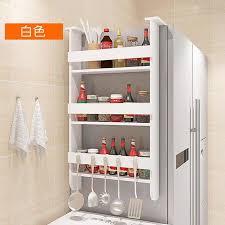 original sound original refrigerator rack side wall rack kitchen rack wrap paper towel storage refrigerator side rack white