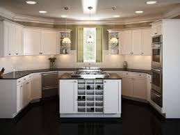 U Shape Kitchen Layout Brown Wooden Kitchen Cabinets U Shaped Kitchen Stainless Steel Pan