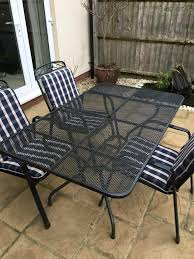 kettler garden furniture 3 chairs and large table