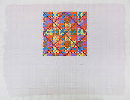 Gloria Klein Painted Graph Paper Acrylic On Paper 1982 17 X 22 At