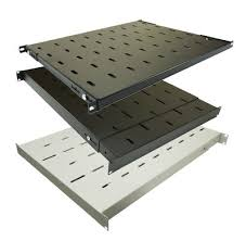 fixed vented rack mount shelves