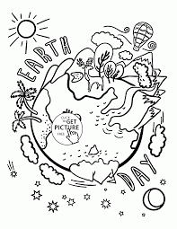 Small Picture Beautiful Earth Celebration Earth Day coloring page for kids
